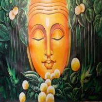 Exclusive Buddha In Forest  Wall Hanging by Differently Abled Artist