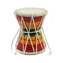 Handmade Crafted Musical Instruments Upto 8 Years Kids Playing Wooden 5 Inch Damroo