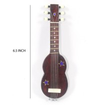HandCrafted Showpiece Wooden Miniature Magnetic Guitar (Size:- 6.5 Inch)
