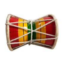 Handmade Crafted Musical Instruments Upto 8 Years Kids Playing Wooden 4 Inch Damroo