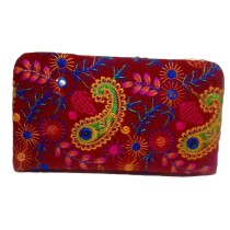Handmade Excellent Blue Genuine Clutch  with embroidery work  by Women Self Help Groups of Rajasthan