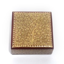 Handmade decorative maroon paper weight fine gold work by Kashmiri artisans
