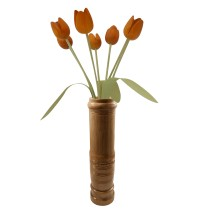 Handmade Natural Bamboo Vase Qty1 by Artisans from North East India