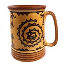 Handmade Chocolate Color Khurja Cup or Mug by awarded artisans from UP