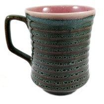 Handmade Multicolored Khurja Cup or Mug by awarded artisans from UP