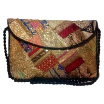 Handmade Excellent Multicolor Genuine Sling Bag with embroidery work  by Women Self Help Groups of Rajasthan
