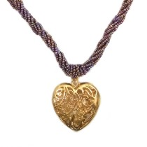 Handmade Costume Fashion Jewelry Purple/Gold (NER) by Women Groups