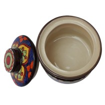 Exclusive Handmade Khurja Pottery Multicolor Barni  by Awarded Artisans