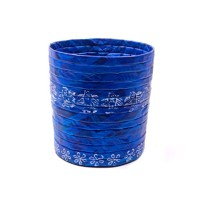 Recycled Newspaper Blue Cylindrical Basket