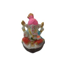 Handmade Excellent Multicolor Marble Art Lord Ganesha Showpiece  by Awarded Indian Rural Artisan
