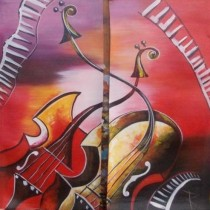 Classy Guitar Twin Wall Hanging by Differently Abled Artist