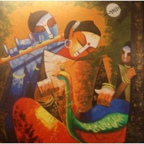Classy Radhe Shyam Wall Hanging by Differently Abled Artist