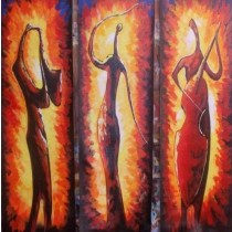 Exclusive Three Musical Beauties Wall Hanging by Differently Abled Artist