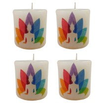 Handmade decorative Candles pack of 4  by India Meets India.