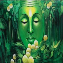 Exclusive Green Buddha Wall Hanging by Differently Abled Artist