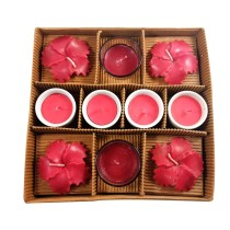 Handmade decorative Candles pack of 10  by India Meets India.