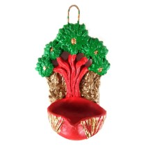 Handmade decorative Red, Green candle holder by India Meets India.