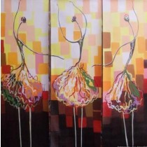 Classy Three Dancing Beauties Wall Hanging by Differently Abled Artist