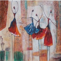 Exclusive Four Dancing Women Wall Hanging by Differently Abled Artist