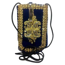 Handmade Excellent Blue Genuine Coin Pouch with embroidery work  by Women Self Help Groups of Rajasthan