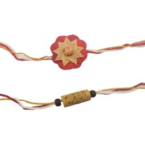 India Meets India Bamboo Rakhi Pack of 2 | Handmade | Indian Traditional Raksha Bandhan Festival | Made by Awarded Indian Rural Artisan