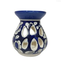 India Meets India Blue Diffuser Aroma Oil Burner 11.5x11 cm | Handmade Home Decor