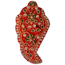 Exclusive Red Decorative Marble Sindur box by Artisan from Rajasthan