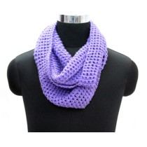 Purple Hand Knit Woollen Neck Warmer