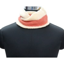 Peach Cream Hand Knit Woollen Neck Warme