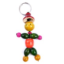 Handmade Key Chain Wooden With Vegetable Dyes by Rural Artisans