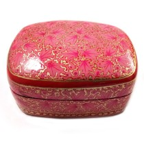Handmade exclusive paper mache multicolor Decorated Box  By Rural Artisan.