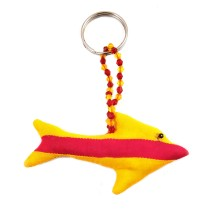Handmade Multicolor Art Fish Keychain or Keyring | Girls Bag Decoration Charm | Decorative Ornaments  by Rural Artisan.