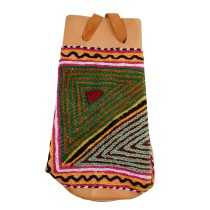 Stylish Designer Leather Embroidered Phone Case Potli by Artisans from Rajasthan