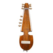 Handmade Crafted Showpiece Wooden Miniature Rabab  (Size:- 6.75 Inch)