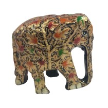 Handmade exclusive paper mache Gold Elephant By Rural Artisan.