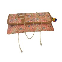 Handmade Excellent Pink Genuine Clutch With Detachable Chain by Women Self Help Groups of Rajasthan