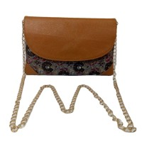 Handmade Excellent Grey Genuine Clutch With Detachable Chain by Women Self Help Groups of Rajasthan