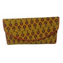 Handmade Excellent Yellow Genuine Clutch by Women Self Help Groups of Rajasthan