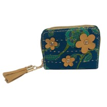 Handmade Excellent Blue Genuine Coin Pouch by Women Self Help Groups of Rajasthan
