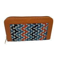 Handmade Excellent Sky Blue Genuine Clutch by Women Self Help Groups of Rajasthan
