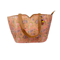 Handmade Excellent Peach Genuine Shoulder Bag by Women Self Help Groups of Rajasthan
