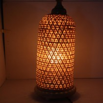Handmade Natural Bamboo Lamp by Artisans from North East India