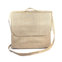 Beige Jute Laptop Bag With Great Finish by Prison Inmates