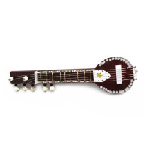 handmade miniature sitar with magnet for gifting by awarded artisans