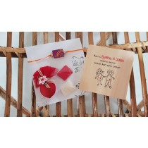 Rakhi Special Handmade Fridge magnet with Rakhi, roli, rice & coconut combo gift on this raksha bandhan