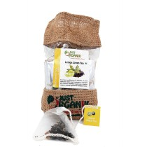 100% Organic Lemon Green Tea Bags by Women SHGs
