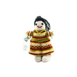 Yellow Red Hand Knit Soft Toy