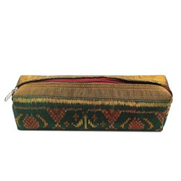 Handmade Green Gold Original Tangalia Pouch by Rural Artisans of Gujarat