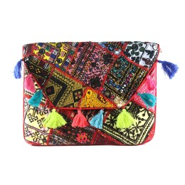 Exclusive Multicolor Ethnic Fashion Clutch Bag by Artisans of Gujarat