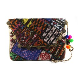 Unique Multicolor Patch Work Ethnic Sling Bag by Artisans of Gujarat